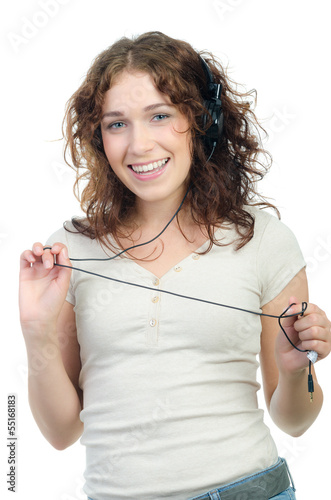 teenager hat spaß beim musikhören