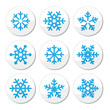 Snowflakes, Christmas vector icons set