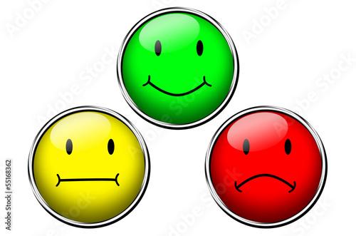 Drei Smileys