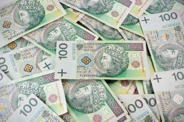 Seamlessly tileable 100's PLN (polish zloty) currency