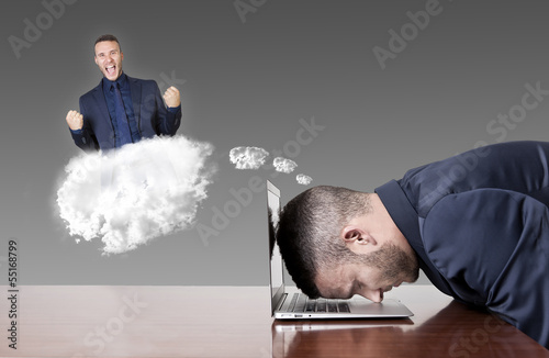 businessman dreaming success