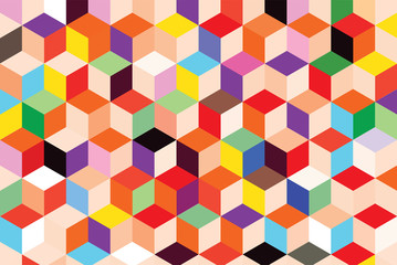Colorful pattern box abstract background