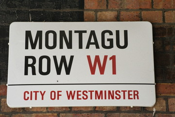 Montagu Row Street Sign