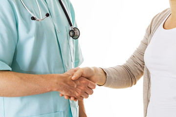 Doctor's and patient's handshake