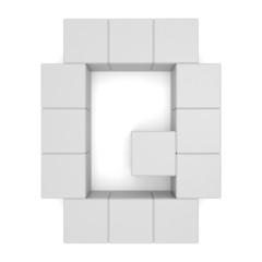 letter Q cubic white