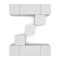 letter Z cubic white