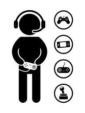 Icônes de gamer