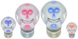 concept électricité, famille ampoules électriques