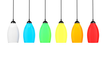 Multicolor tall floor lamps