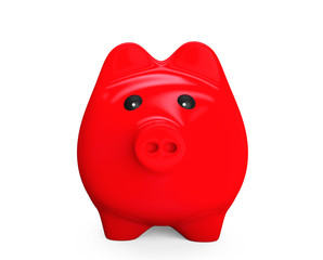 Red Piggy bank style money box