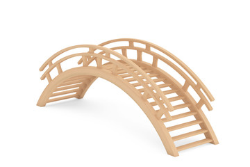 Closeup 3d Wooden bridge