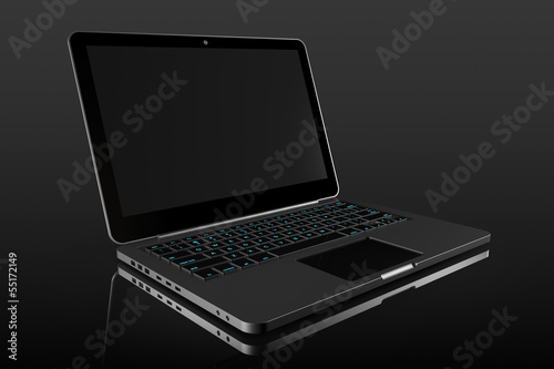 Opened Modern laptop