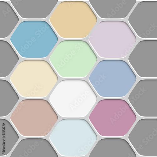 Tapeta Colored honeycomb pattern background