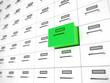 Grüne Schublade Aktenschrank