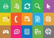 Modern communication icons set