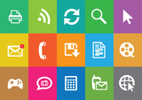 Modern communication icons set