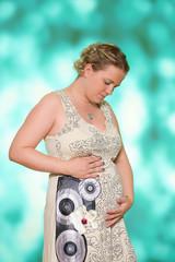 glückliche Schwangere Mama