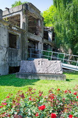 Front side of demolished Westerplatte bunker