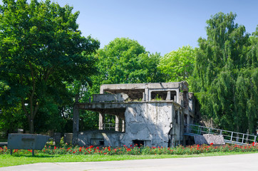 Old demolished Westerplatte bunker