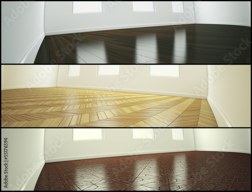 Samples of parquet floor