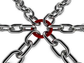 Metal Chain Concept Graphic