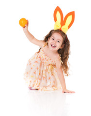 Girl with rabbit ears