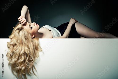 Leinwandbild Motiv Beautiful Long Hair on an Attractive Woman