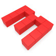 number 3 cubic red