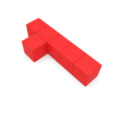 number 1 cubic red