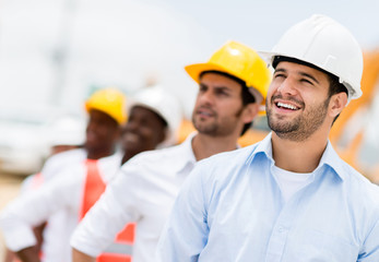 Group of men at a construction site