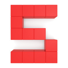number 5 cubic red