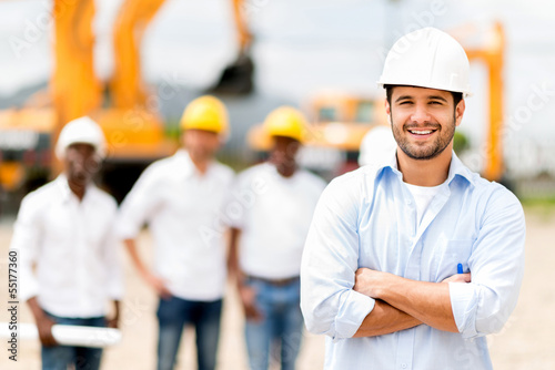 Architect at a construction site