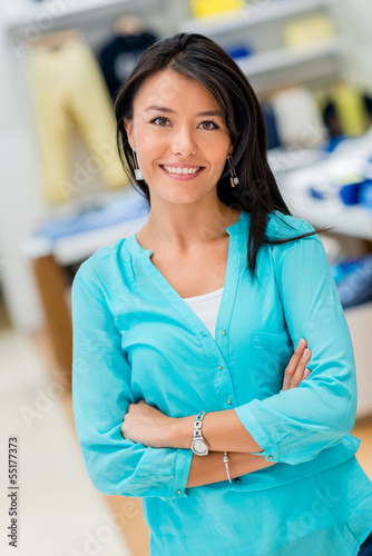 Woman at a store