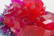 close up of crystals in ruby color - 55177717