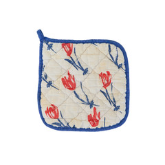 Old pot-holder, dutch, tulips