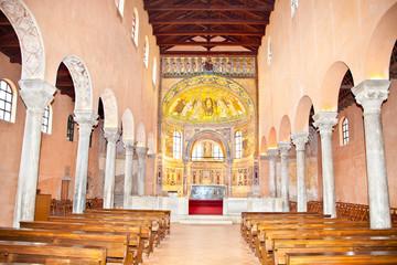 The Euphrasian Basilica in Porec.  Croatia.