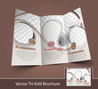Vector Ice Cream Store Brochure Back Design Template