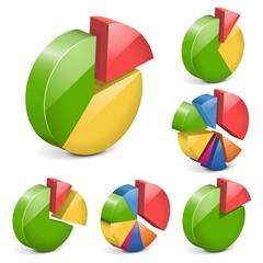 Vector pie charts