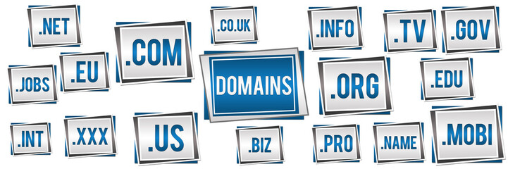Domains Blue Grey Banner