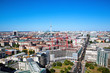 Berlin panorama. Berlin Catherdral and TV Tower