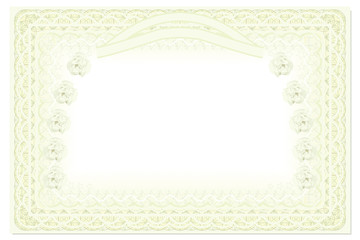 Blank Horizontal Certificate Template With Roses