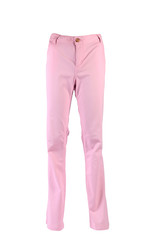 female pink jeans