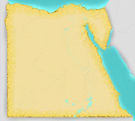 Egitto cartina fisica