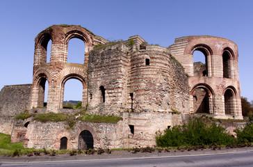 Roman bath ruins in Trier