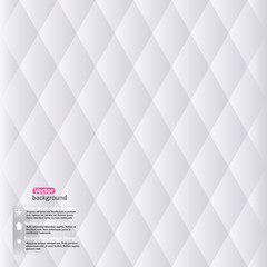 Vector abstract white geometric background. Vector Illustration