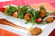 Popcorn Shrimp and Baby Arugula Salad