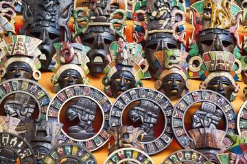 Handmade souvenir masks, Mexico