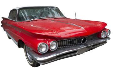 elegant red sedan car