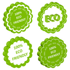 Eco friendly vector stamp or label ecology background