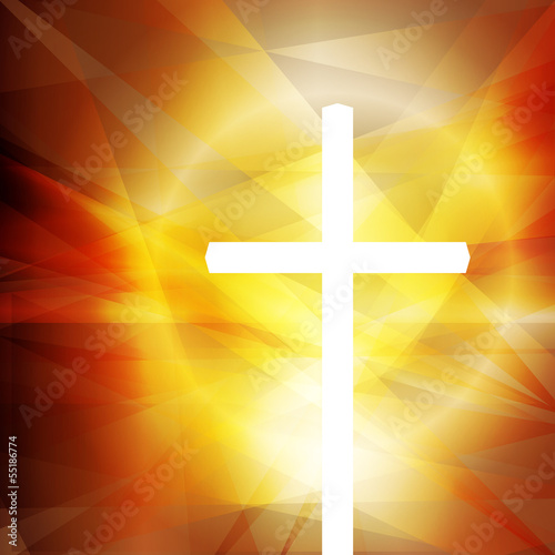 Cross vector abstract background concept